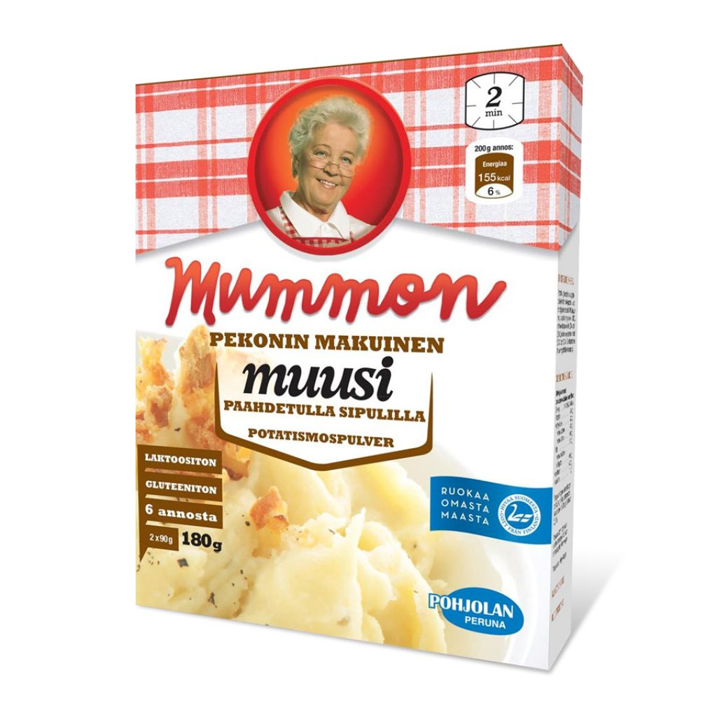 Mummon Instant Mashed Potato with the taste of onion and bacon 180g