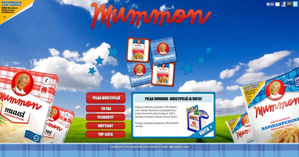 Mummon -muistipeli, pelaa osoitteessa: http://mummon.muistipeli.com