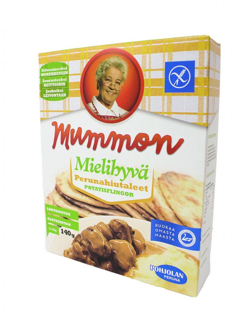 Mummon Mielihyvä Perunahiutaleet 140 g -pakkausmuutos!