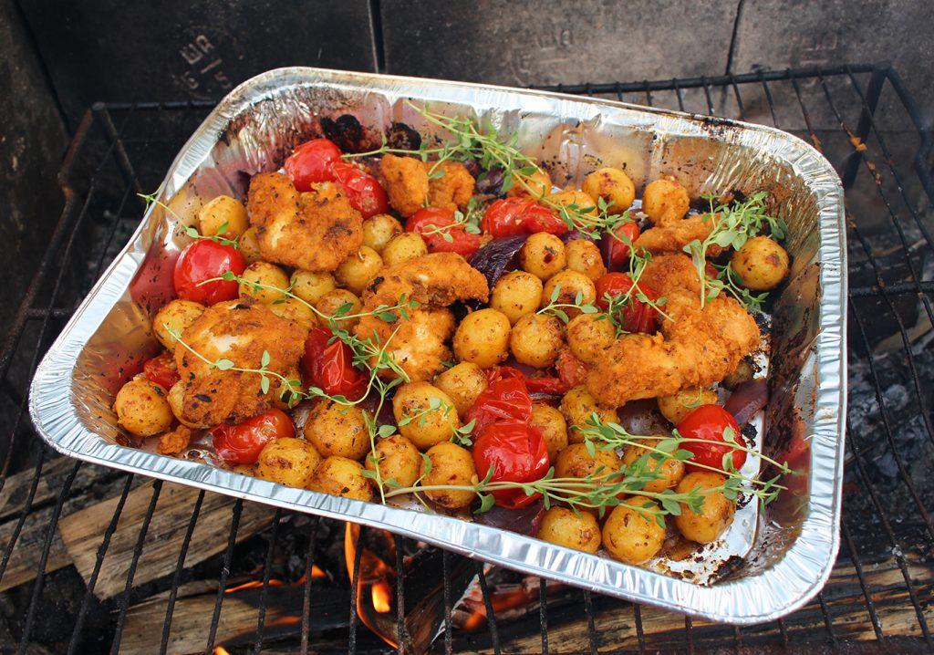 Pariisinperunavuoka grilliin