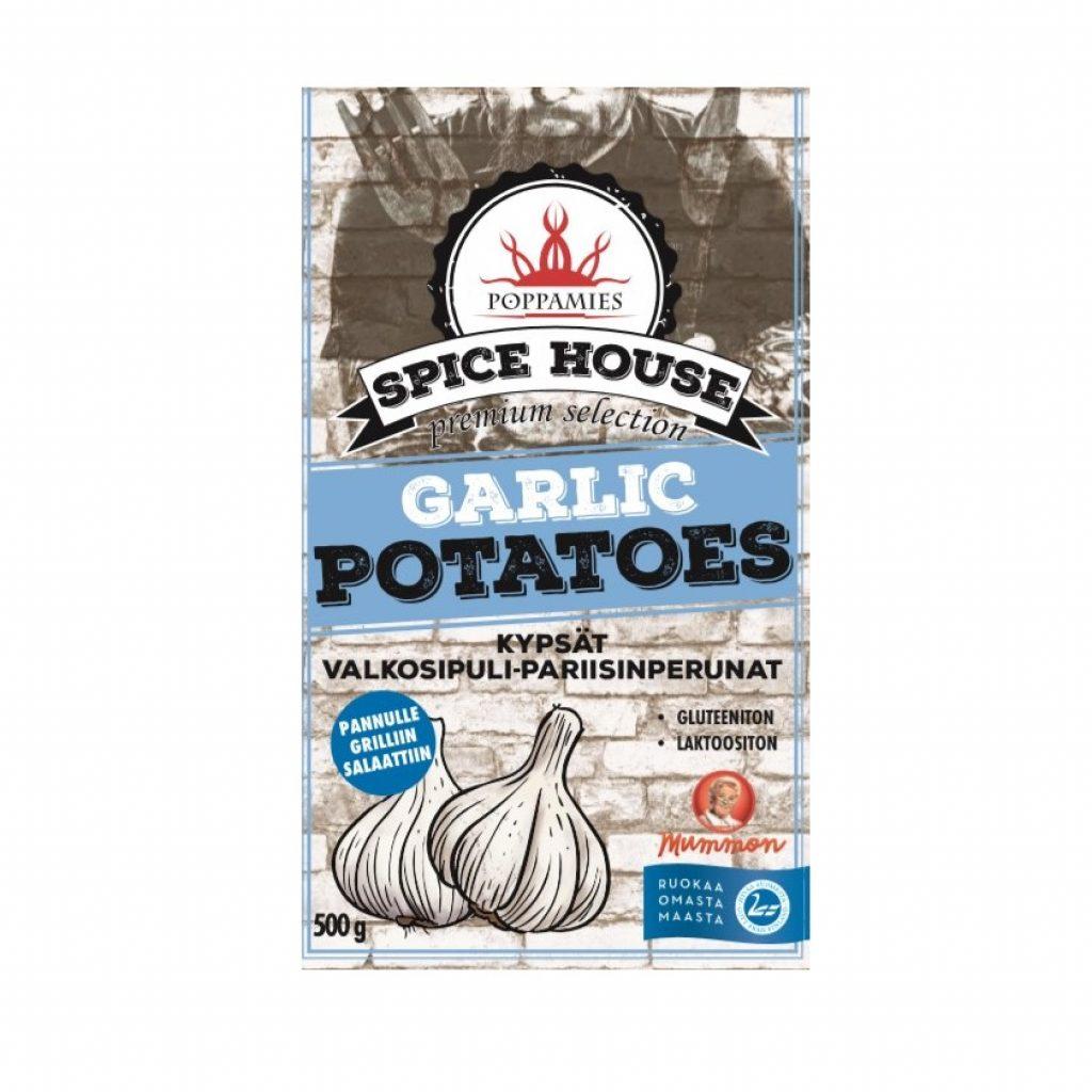 Poppamies Spice House kypsät valkosipuli-pariisinperunat 500g